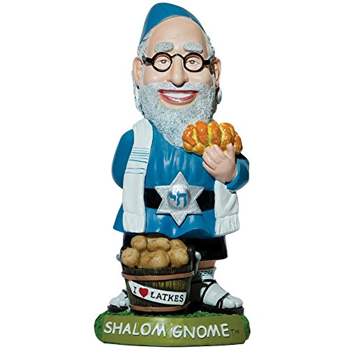 Shalom Jewish Gnome Rabbi Indoor/Outdoor Handpainted Weather-Resistant Resin