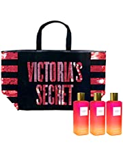Victoria's Secret Gift Set Bombshell Paradise Mist & Tote Bag 4 Piece Combo