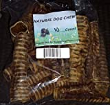 Beef Trachea 6″ (Moo Tubes) Pack of 10 Sealed Package Made in USA, My Pet Supplies