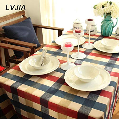 RubyShopUU Edinburgh Plaid Cotton Tablecloth Table Cover Napkin Series Cover Towels Factory Direct Sales Dining Table Cover Home Decor -