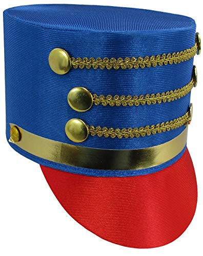Unisex Child Toy Soldier Costume Hat, Blue Red, One ()