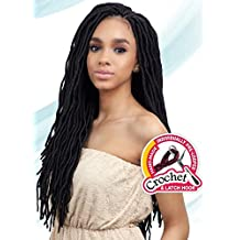 2X SOFT WAVY FAUX LOC 20 (4 Medium Brown) - Freetress Synthetic Crochet Briad Dread Locks by Freetress