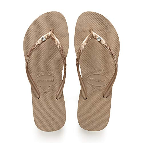Gold Slim Infradito 8548 Sw Crystal Rose Donna Glamour Gold metallic rose Havaianas H0qZUE