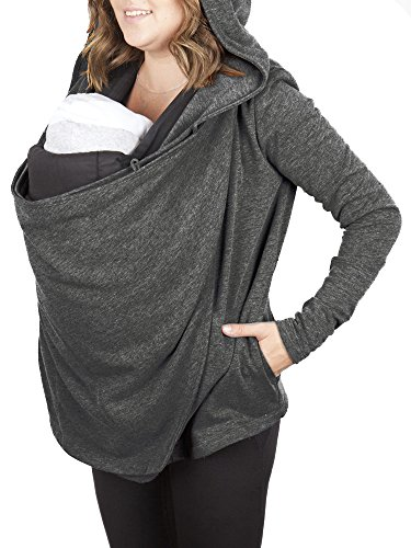 Charcoal Nursing Cover & Babywearing Sweater (medium charcoal)