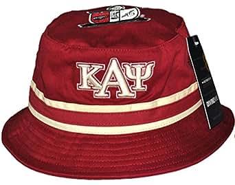 Kappa Alpha Psi Fraternity Mens Bucket Hat Crimson Red At