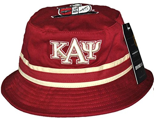 Kappa Alpha Psi Fraternity Mens Bucket Hat Crimson red