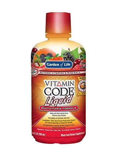Garden of Life Multivitamin - Vitamin Code Liquid Raw Whole Food Vitamin, Vegetarian Supplement, No Preservatives, Fruit Punch, (Garden Of Life Raw Iron)
