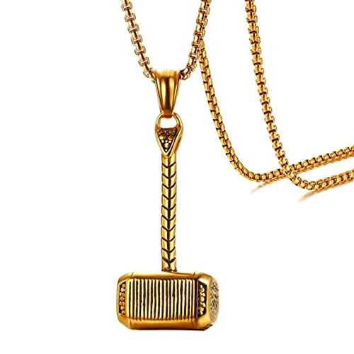 Amazon.com: NBKING Mjolnir Thor Hammer Collar con colgante ...