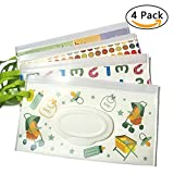 #1: Travel Wipes Case Reusable Wet Wipe Pouch Baby Wipes Dispenser for Baby Eco Friendly Wipe Pouches,Easy to Carry Great for Travel, (4 Pack)