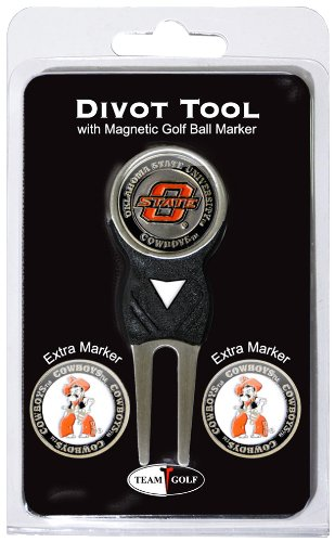 Golf Divot Fixer (NCAA Oklahoma State Cowboys Divot Tool Pack With 3 Golf Ball Markers)