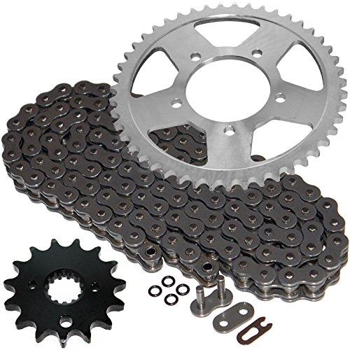 Caltric Steel O-Ring Drive Chain & Sprockets Kit Fits SUZUKI GSX600F GSX-600F Katana 600 2000-2006