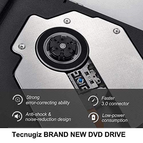 Tecnugiz External CD/DVD Drive for Laptop & MacBook, CD / DVD Player & Burner with USB 3.0 Plug, Fast Data   Transfer & Writing Speed 8 X DVD-R by Tecnugiz (Image #5)