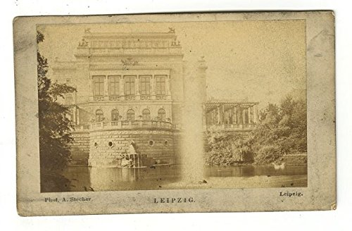 New Theater, Leipzig- Original Carte-de-visite Photograph - Late 19th Century from JG Autographs, Inc.