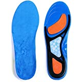 Plantar Fasciitis Insoles, Foot Arch Support Orthotics Shoe Inserts for Comfort & Relief from Flat Feet, High Arches, Back, Fascia, Foot & Heel Pain for Men and Women (Blue, Men's 8-13)