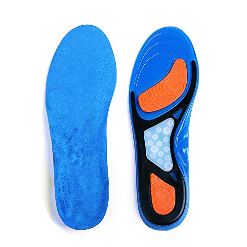 Insoles Orthopedic Shoe - Orthotic Insoles for Men & Women, Full Length Plantar Fasciitis Inserts with Hight Arch Support, Sports Orthopedic Gel Shoes Insoles for Supination, Flat Feet, Heel & Foot Pain(Blue, Women5-10)…
