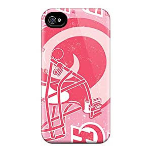 Tpu Case Cover Compatible For Iphone 4/4s/ Hot Case/ St. Louis Rams