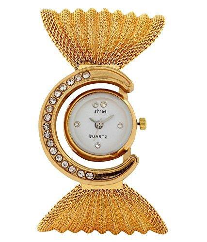 Shree Glory Fancy Golden Analog Watch for Women and Girls