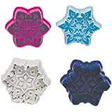 R & M International Set of 4 Easy to Use Beautiful, Intricate Assorted Snowflake Pastry/Cookie Stampers - Gorgeous Professional Results, Favorite of Bakers