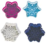 R & M International Set of 4 Easy to Use Beautiful, Intricate Assorted Snowflake Pastry/Cookie Stampers