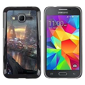 // PHONE CASE GIFT // Duro Estuche protector PC Cáscara Plástico Carcasa Funda Hard Protective Case for Samsung Galaxy Core Prime / Futuro París Francia /