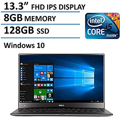 """2016 Newest Dell XPS 13 High Performance Laptop with 13.3"""" FHD IPS Infinity Borderless Display, Intel Core i5-5200U Processor, 8GB RAM, 128GB SSD, 15 hours battery life, Backlit Keyboard, Windows 10"""