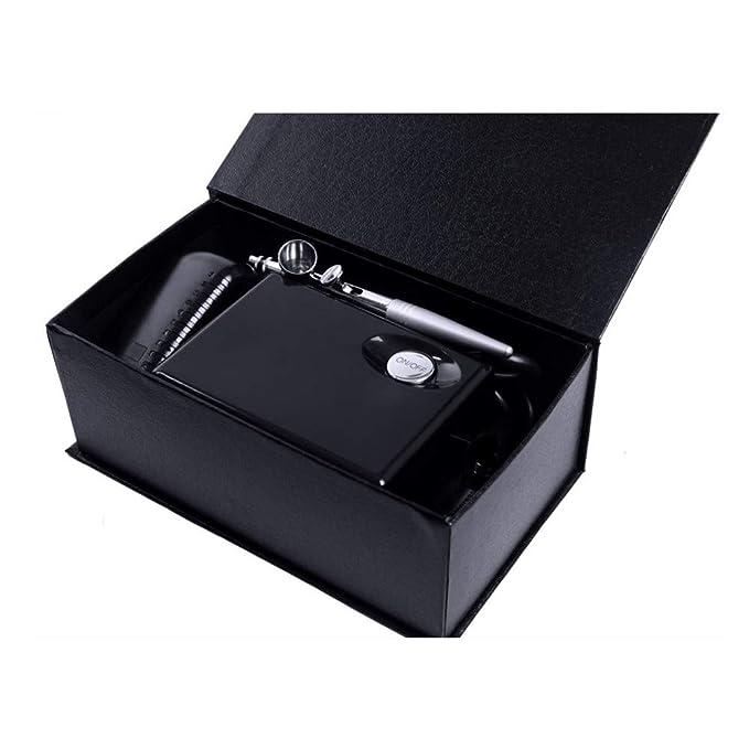 Pinkiou Airbrush Maquillaje Kit pistola pistola 0,4 mm aguja con mini compresor para la decoración de la torta Pintura de uñas tatuaje temporal Arte Hobby ...
