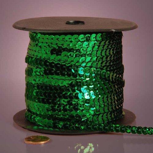 - Emerald Green Metallic Sequins, 6mm X 80Yd