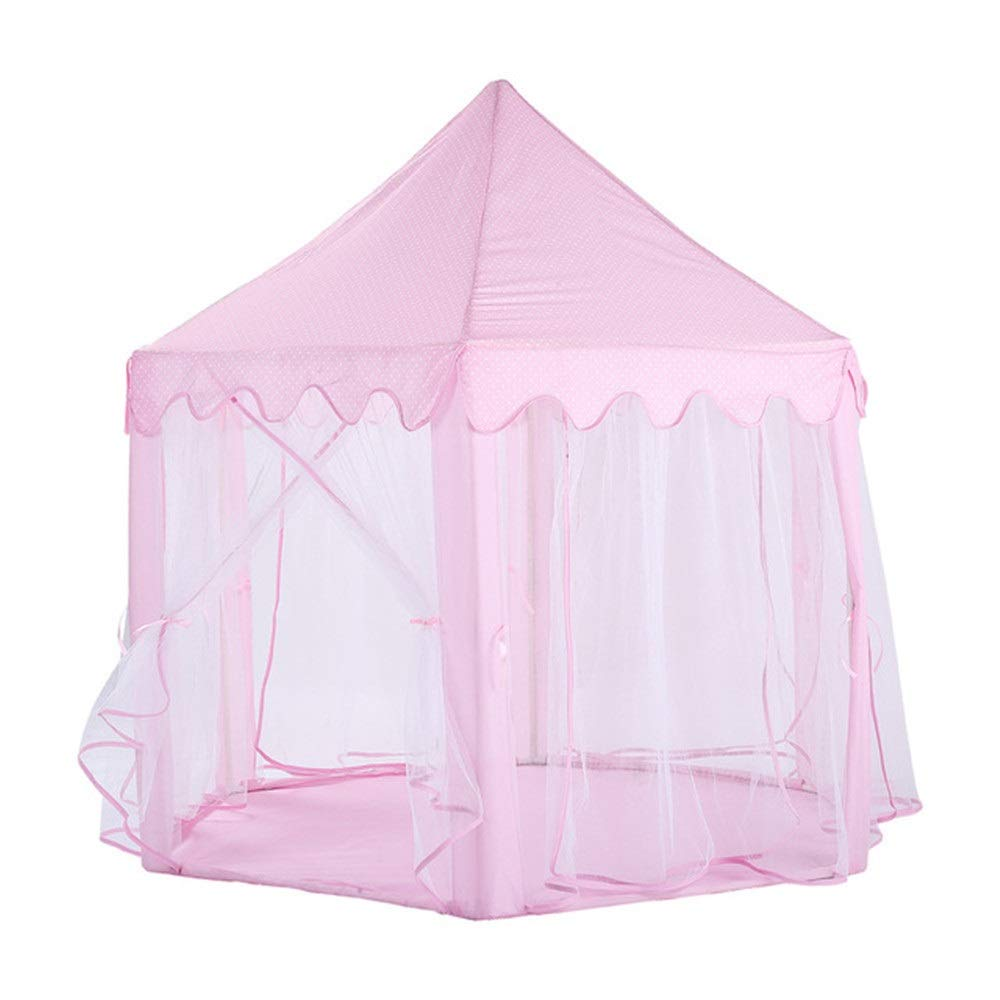 Children's play tent Children's Castle Hex Mesh Ocean Ball Pool House Indoors Or Outdoors & Play Game Tent Girls Pink Toy Play Tent