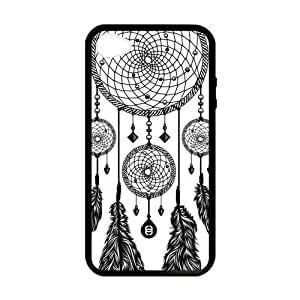 Black and White Aztec Tribal Dream Catcher Dreamcatcher Custom Case Cover for iPhone 4 4S Laser Technology