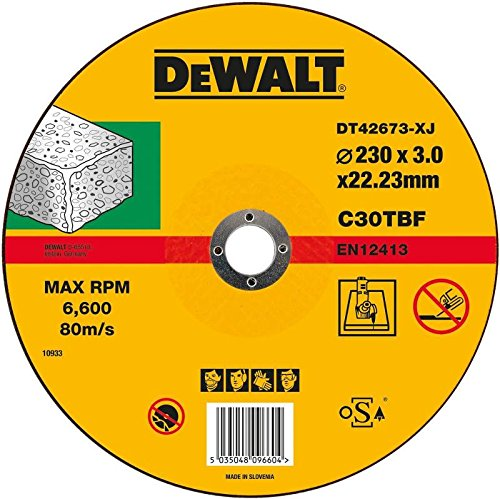 Dewalt DT42673 Concrete/Stone Cutting, T1 (S), 230 mm x 3 mm x 22 DT42673-XJ