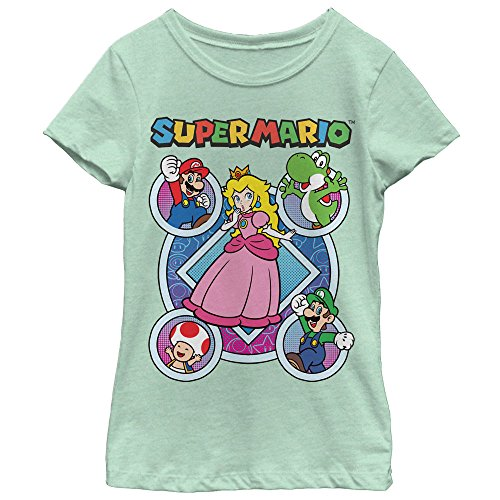 Price comparison product image Nintendo Super Mario Princess Peach Friends Girls Graphic T Shirt