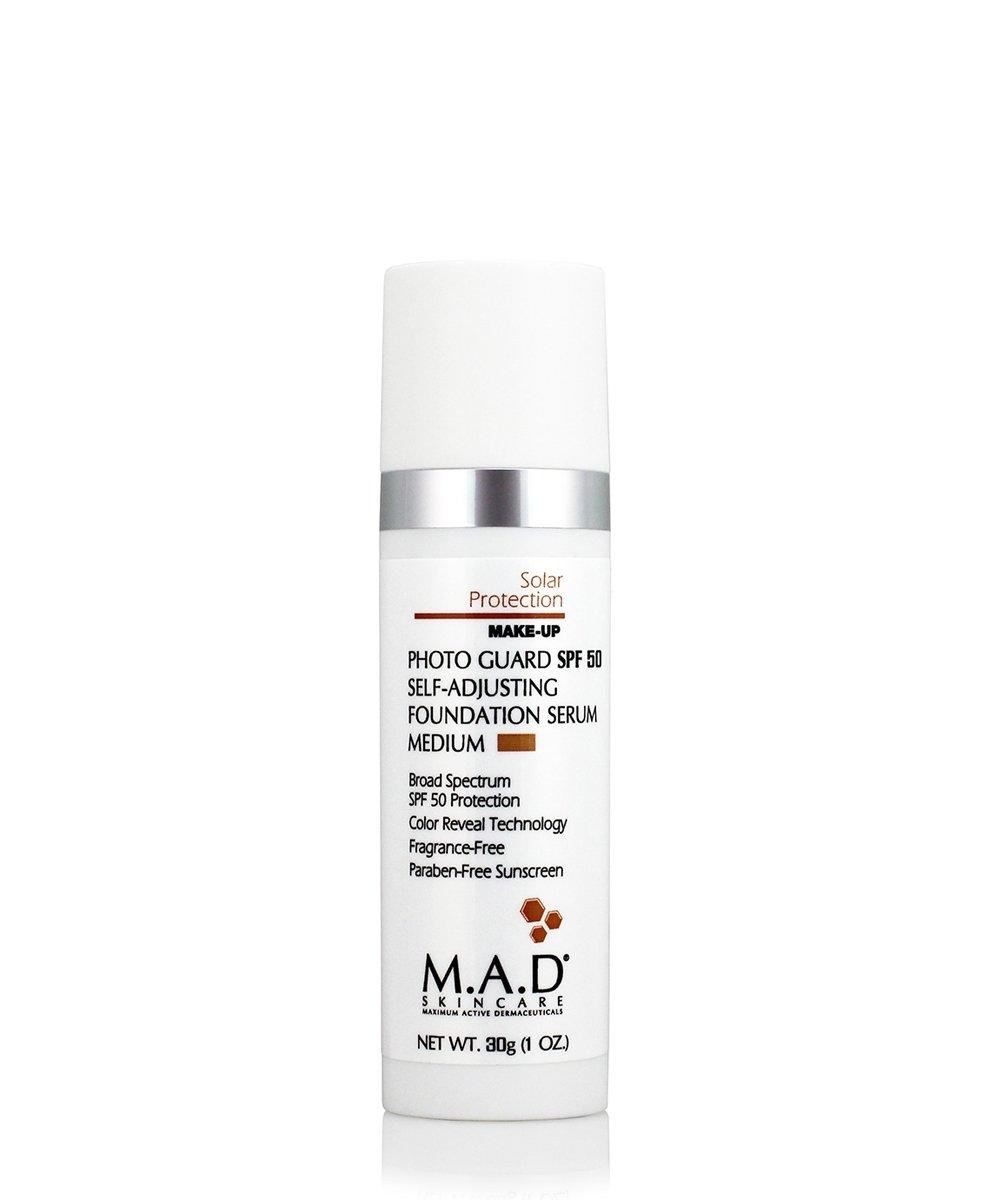 M.A.D Skincare Photo Guard SPF 50 Broad Spectrum Self-Adjusting Foundation Serum - Medium - by Maximum Active Dermaceuticals 1oz