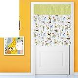 Door curtain/fabrics,garden curtain/wind curtain/partition curtains/toilet,bedroom,kitchen curtain/anti-lampblack half curtain/curtain-M 90x150cm(35x59inch)