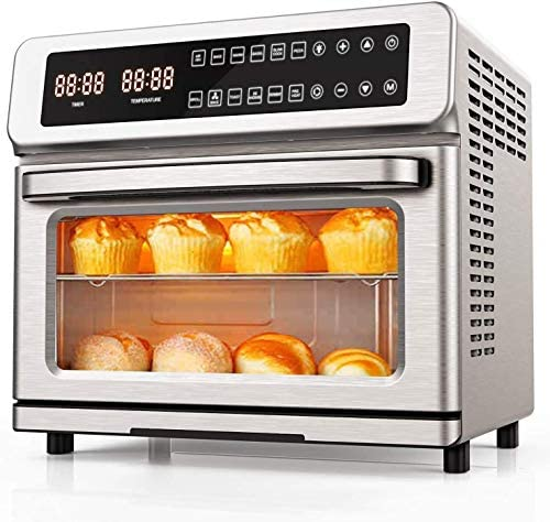 11-in-1 Air Fryer Toaster Oven, 22 Quart Convection Toaster Oven Air Fryer Combo, 1700W Countertop Rotisserie Oven, Large Airfryer Oven, ETL Certified