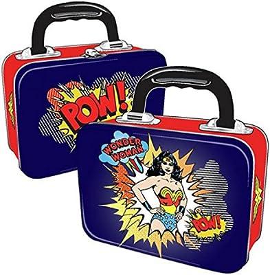 DC Comics - Wonder Woman caja metálica fiambrera retro - de dos lados con - Pow!: Amazon.es: Juguetes y juegos