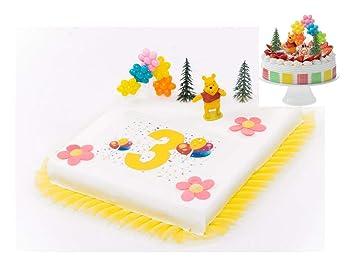 Tortendeko 3 Geburtstag Winnie Pooh 8 Teilig Tortenaufleger Kuchen