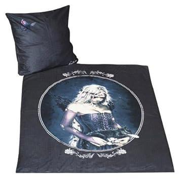 Victoria Frances Bettwäsche 135x200 100% Baumwolle ANGEL schwarz