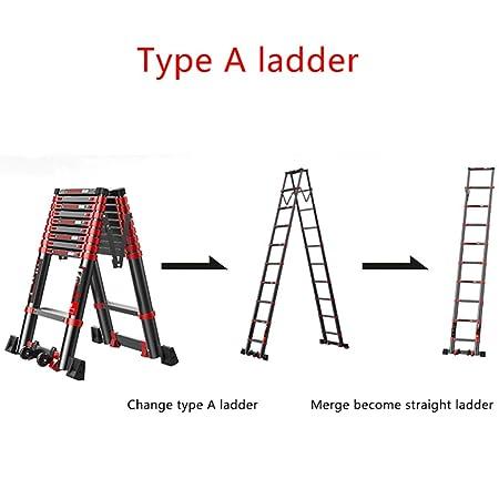 Escalera telescópica Espiga de aleación de Aluminio Gruesa Escalera Plegable Escalera multifunción de ingeniería de Ascensores: Amazon.es: Hogar
