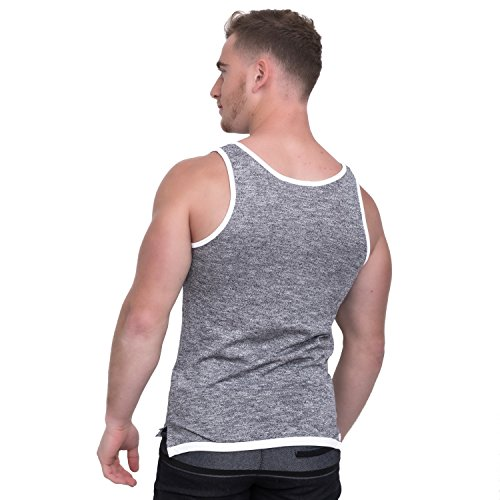 Taddlee Men Cotton Tank Top Sleeveless Solid Color Tshirt Slim Fit Soft Singlets