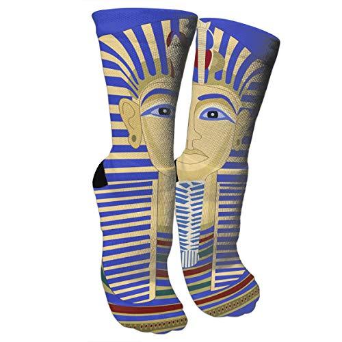 New King Pharaoh Tutankhamun Egypt TUT Egyptian.jpg Fashion Stylish Knee High Socks for Women and Men-Fitness Novelty Crew Athletic Socks Comfortable Knee High Sock for $<!--$10.88-->