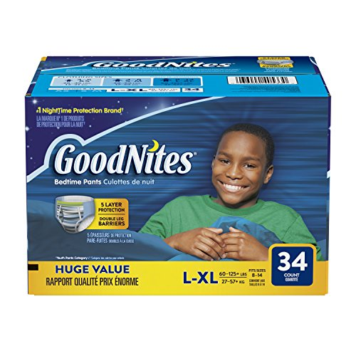 GoodNites Bedtime Pants for Boys Size Large-Extra - Diapers In Xl Size