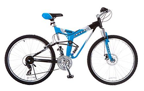 Titan Glacier-Pro Alloy Dual-Suspension All-Terrain Men's Mountain Bicycle, Sky Blue, 19