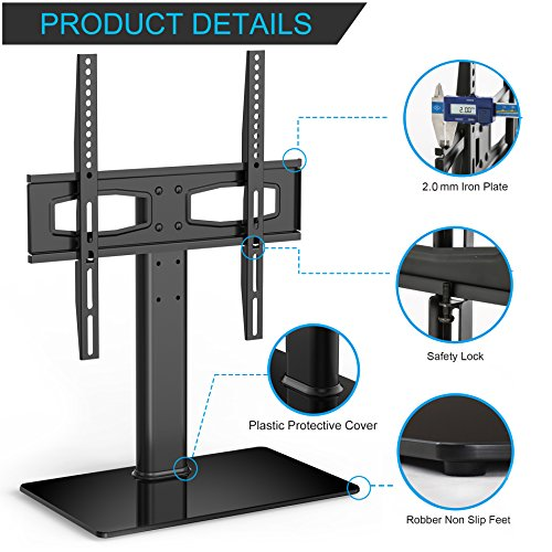universal tv stand base tabletop with mount for up 55 inch flat screen tvs max ebay. Black Bedroom Furniture Sets. Home Design Ideas