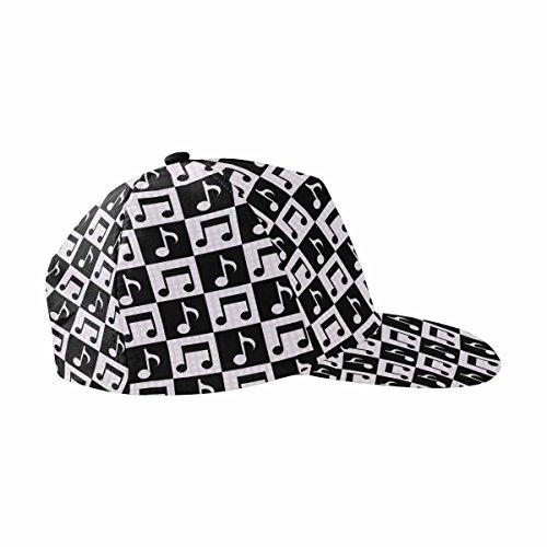 InterestPrint Music Notes Unisex Hip Hop Outdoor Sport Snapback Hats -