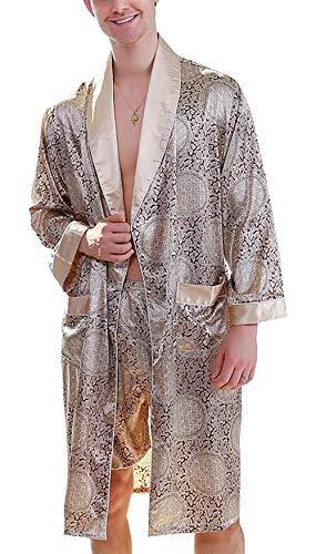 Two Loungewear Pajama confortevole Mens e Summer Style e Pieces Homelear Simple Leggero Accappatoio Gelb set Room Living Rq55txwrC