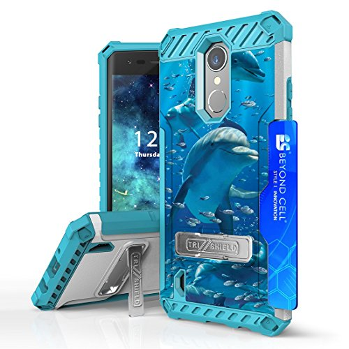 Beyond Cell Military Grade Shockproof Case Compatible with LG Rebel 3, Aristo 3, Tribute Empire, Rebel 4, Phoenix 4, Aristo 2, Aristo 2 Plus - Dolphin from ATOM