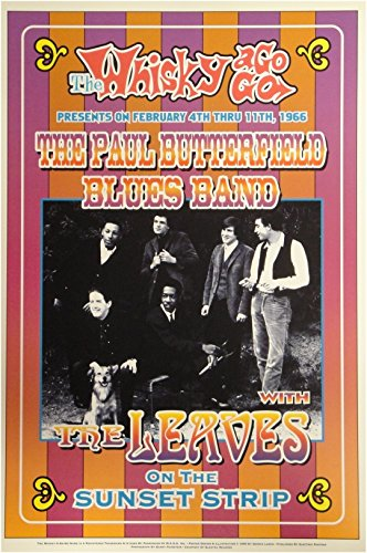 The Paul Butterfield Blues Band Whisky a Go Go 13x19 UNSIGNED Poster ()