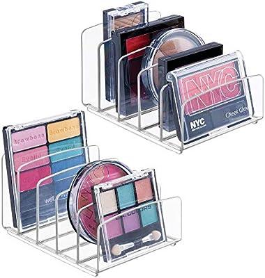mDesign Juego de 2 organizadores de cosméticos – Caja organizadora ...