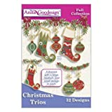 Anita Goodesign ~ Christmas Trios ~ Embroidery Designs CD