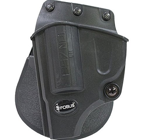 (Fobus Evolution Holster Roto Paddle Smith & Wesson J Frame Left Hand Belt, Black)